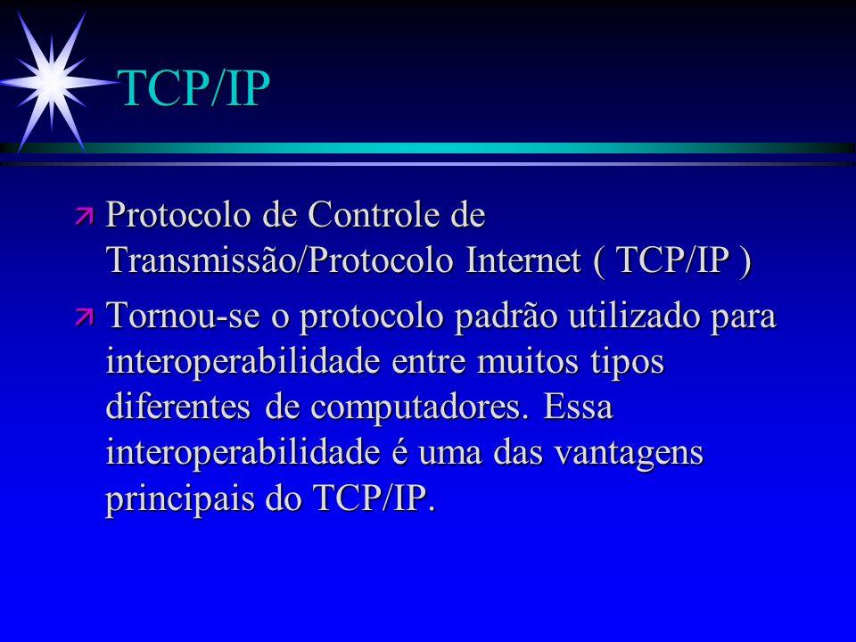 TCP/IPProtocolo de Controle de Transmissão/Protocolo Internet ( TCP/IP )