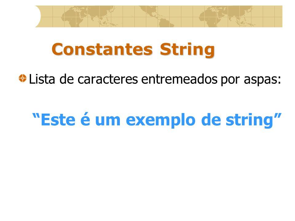 Este é um exemplo de string