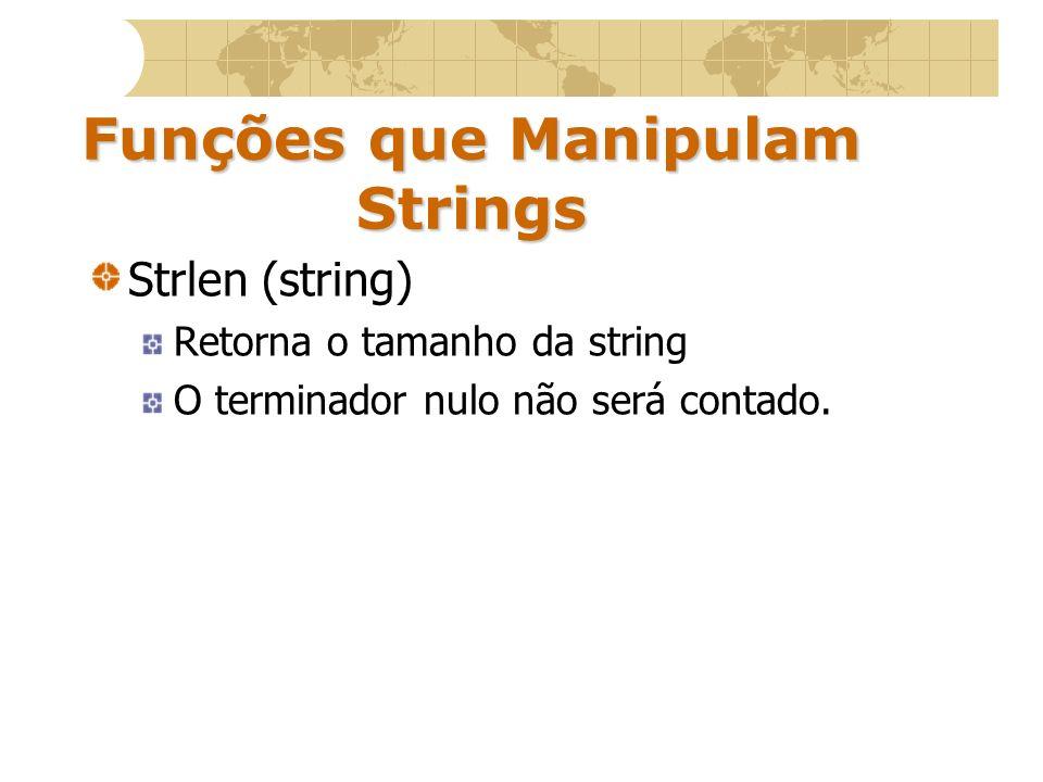 Funções que Manipulam Strings
