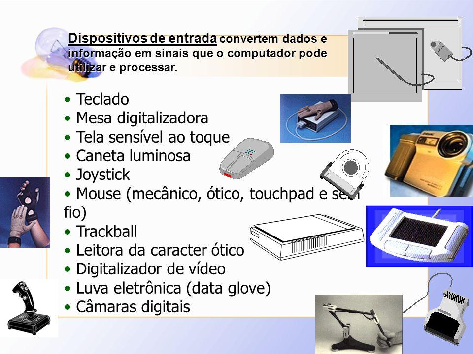 Mouse (mecânico, ótico, touchpad e sem fio) Trackball
