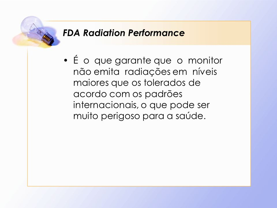 FDA Radiation Performance