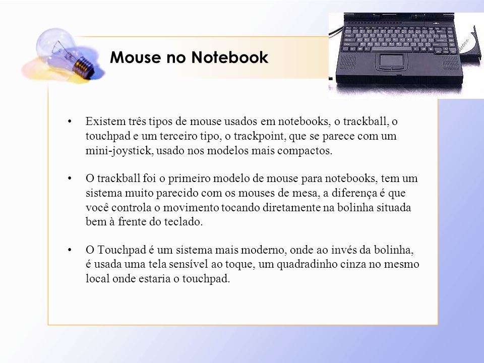 Mouse no Notebook