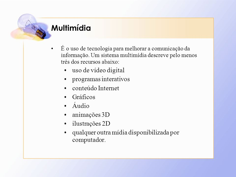 Multimídia uso de vídeo digital programas interativos