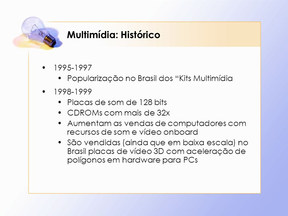 Multimídia: Histórico