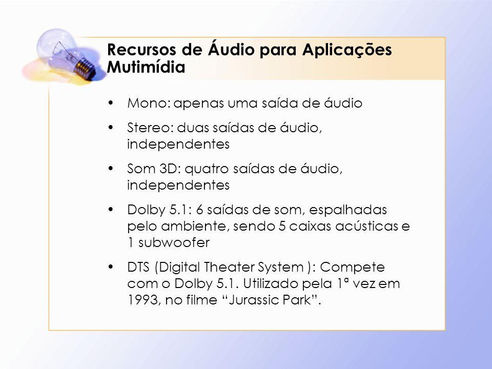 Recursos de Áudio para Aplicações Mutimídia