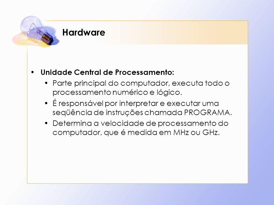 Hardware Unidade Central de Processamento: