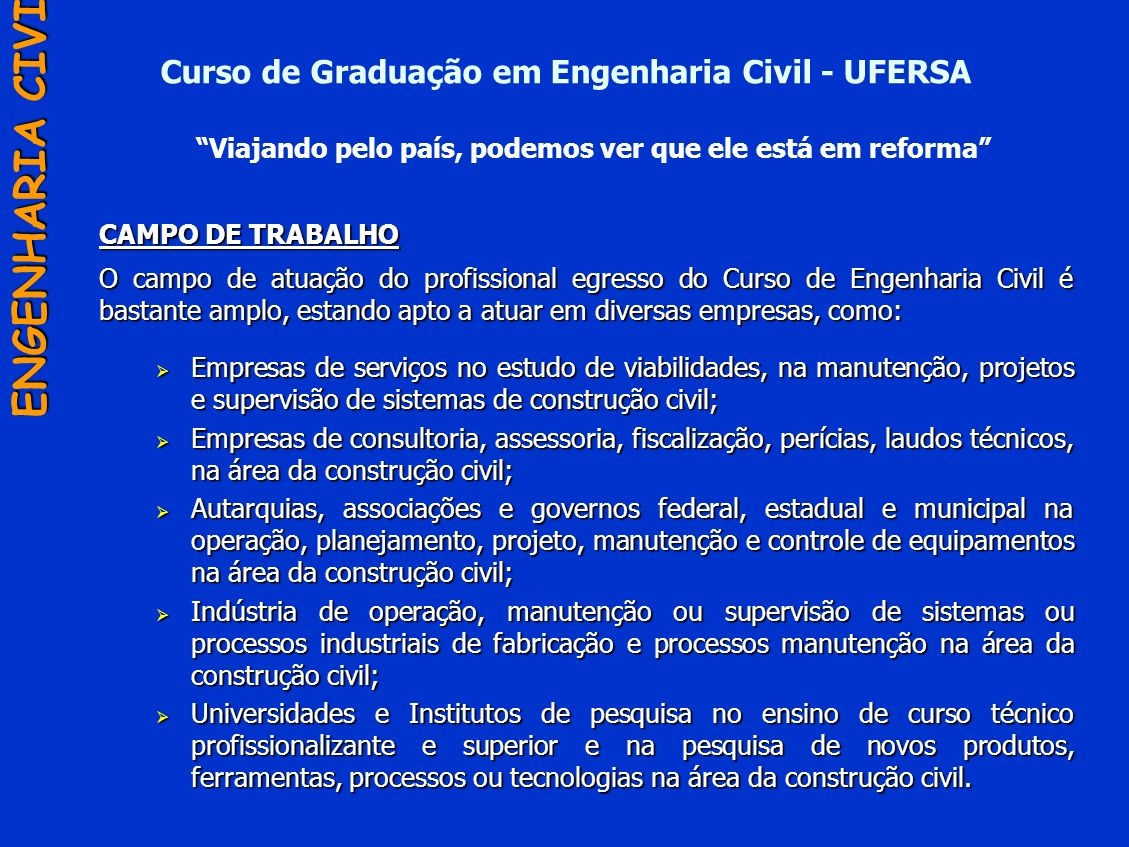 Curso de Graduação em Engenharia Civil - UFERSA