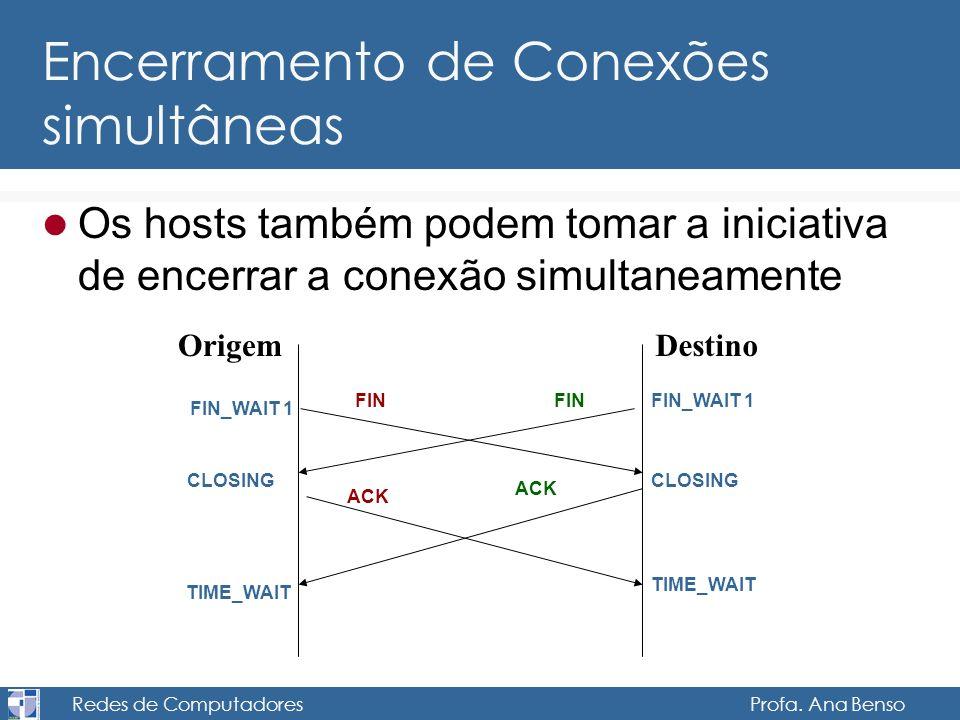 Encerramento de Conexões simultâneas
