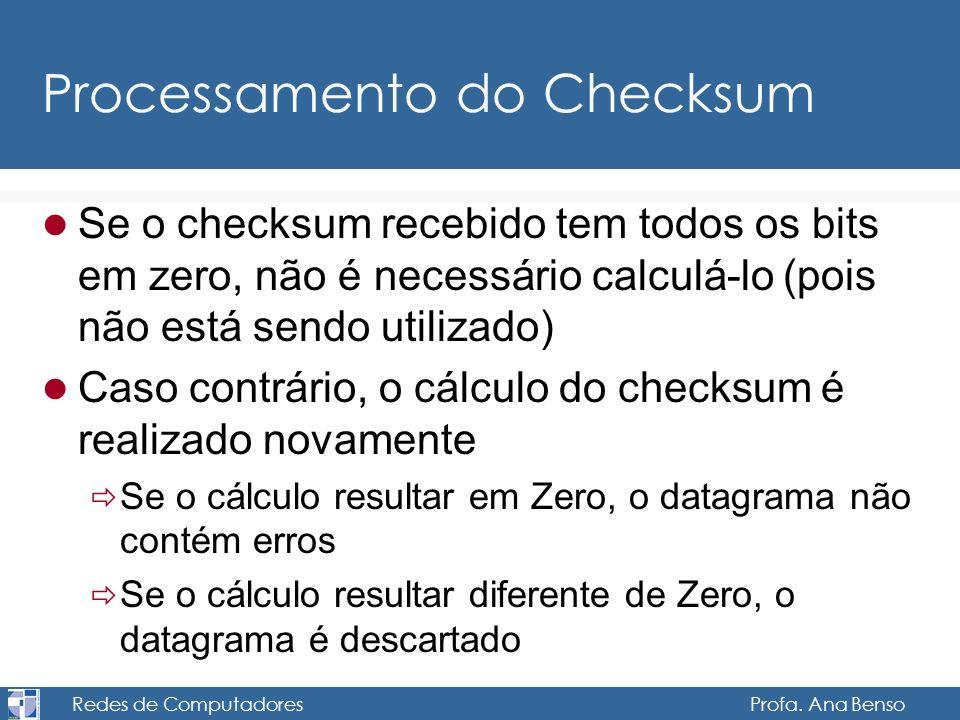 Processamento do Checksum