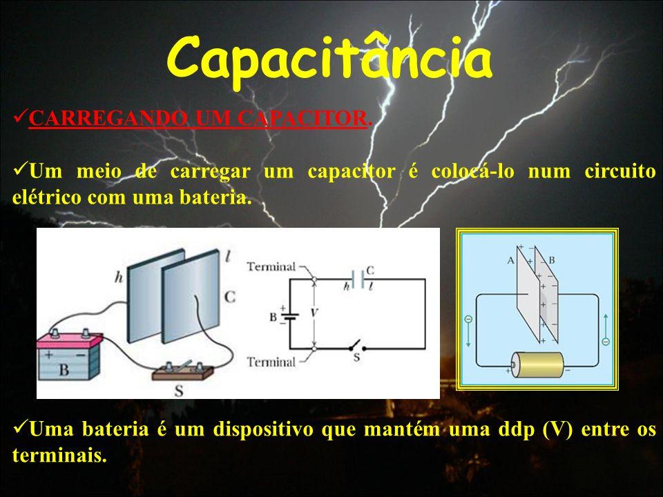 Capacitância CARREGANDO UM CAPACITOR.