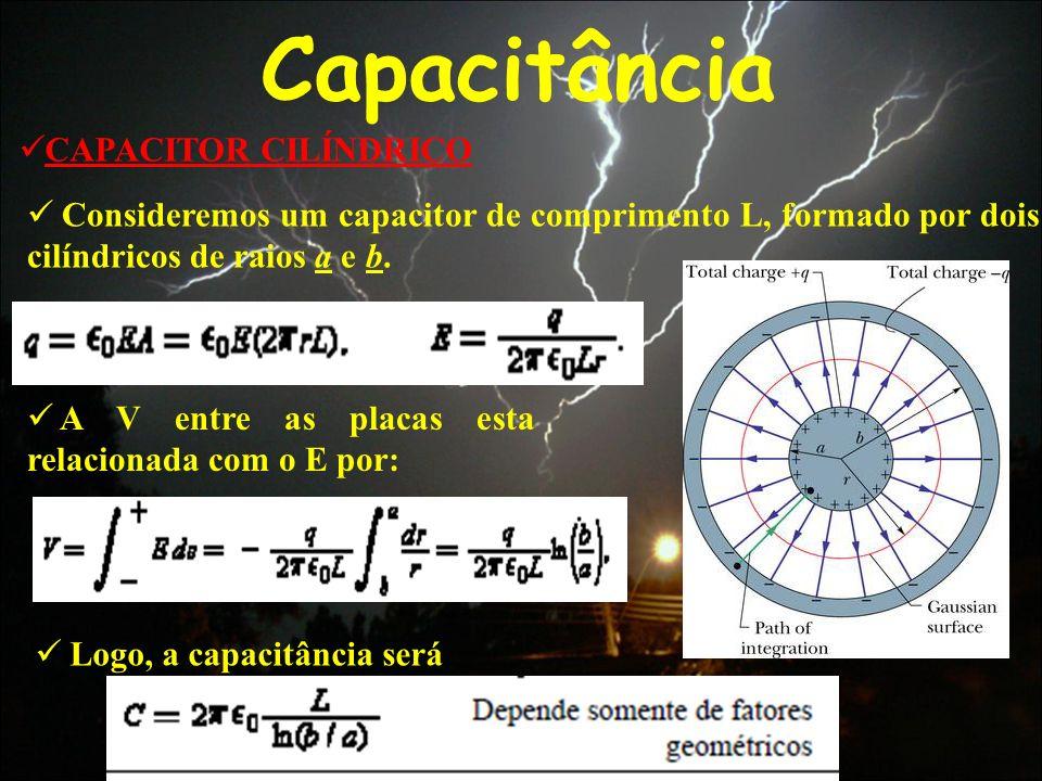 Capacitância CAPACITOR CILÍNDRICO