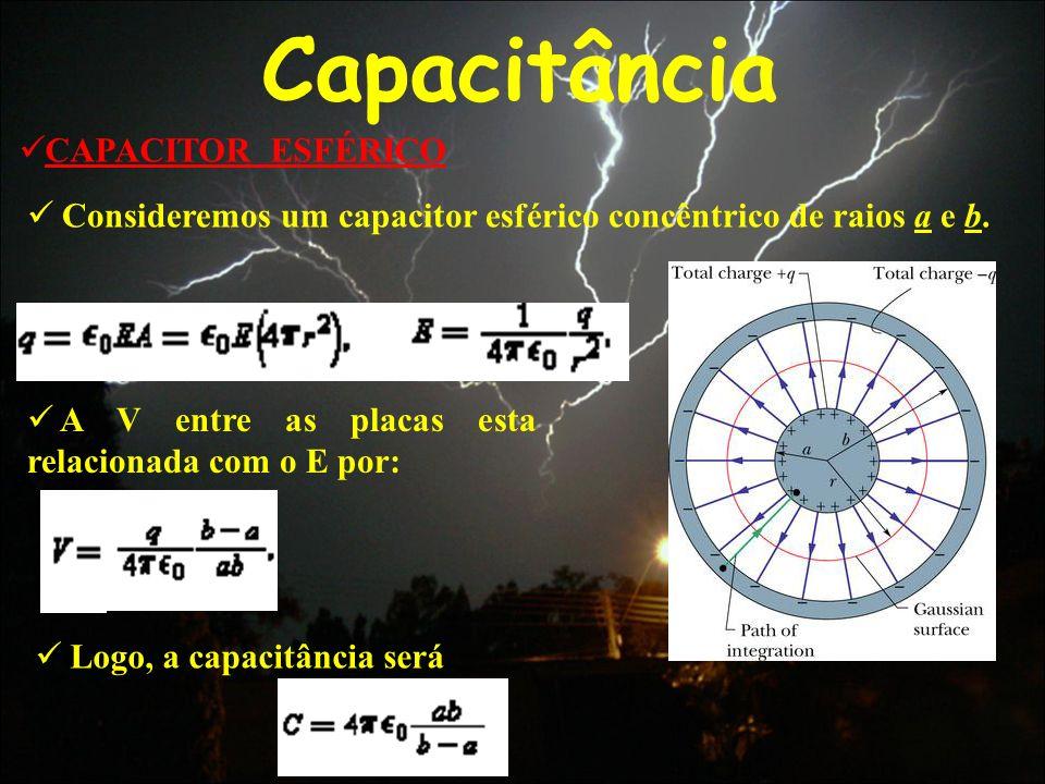 Capacitância CAPACITOR ESFÉRICO