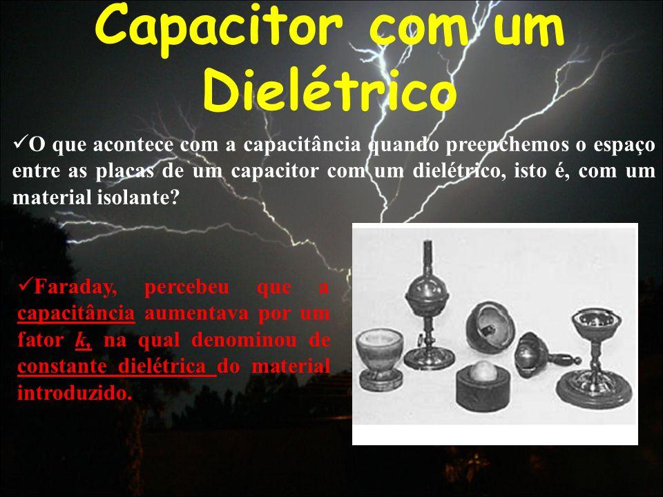 Capacitor com um Dielétrico
