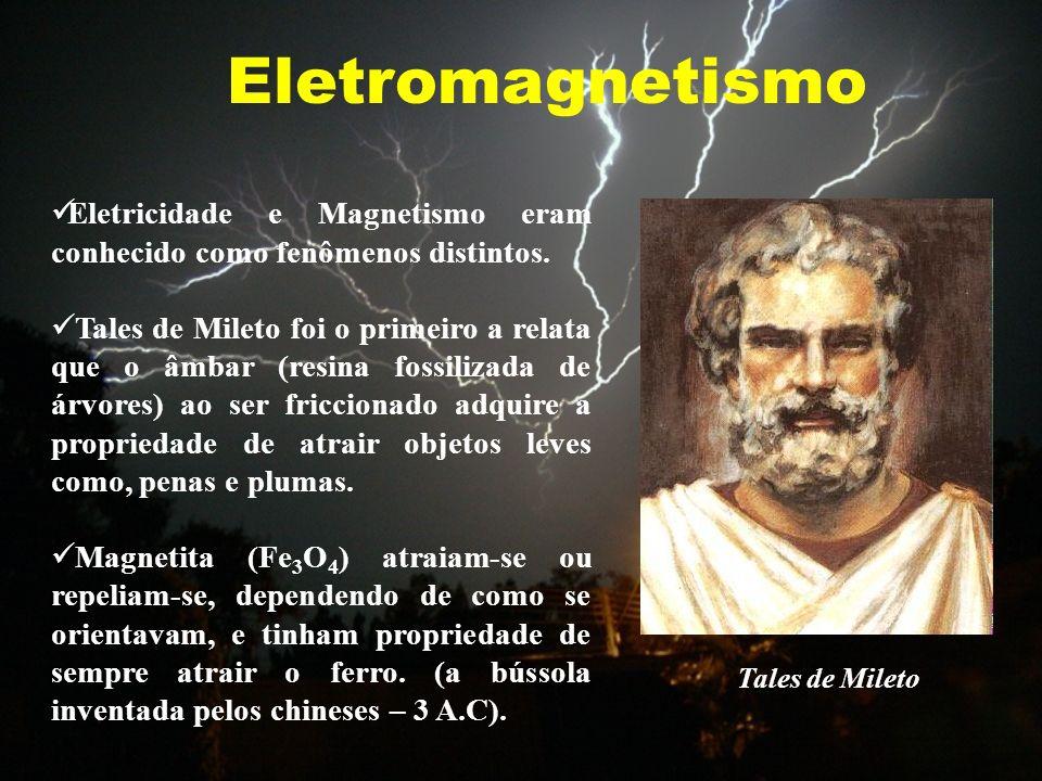 EletromagnetismoEletricidade e Magnetismo eram conhecido como fenômenos distintos.