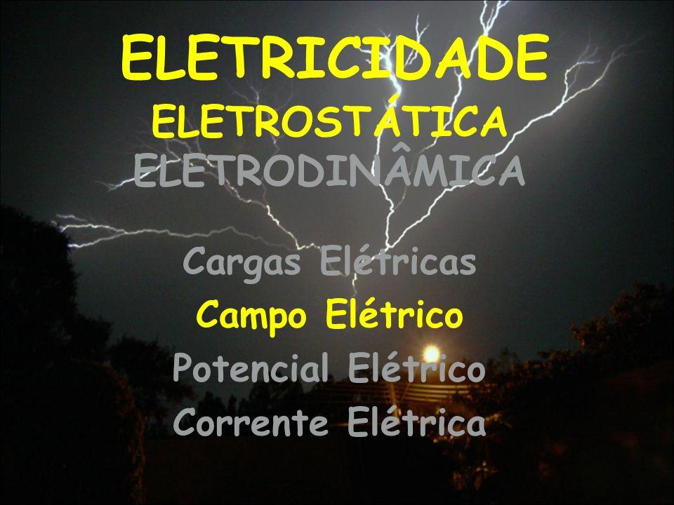 ELETRICIDADE ELETROSTÁTICA ELETRODINÂMICA