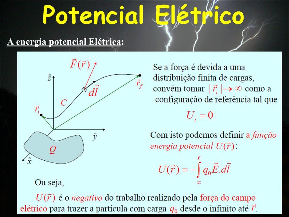 Potencial Elétrico A energia potencial Elétrica: