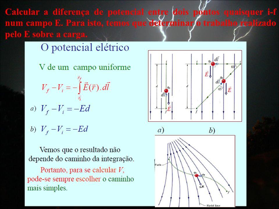 Calcular a diferença de potencial entre dois pontos quaisquer i-f num campo E.