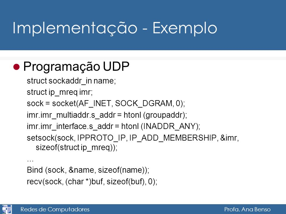 Implementação - Exemplo