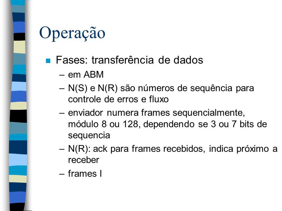Operação Fases: transferência de dados em ABM