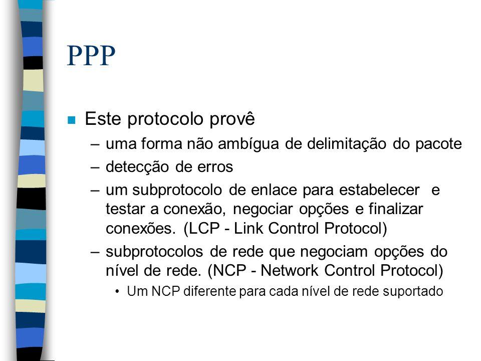 PPP Este protocolo provê