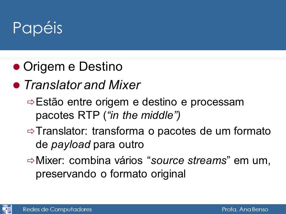 Redes de Computadores Profa. Ana Benso