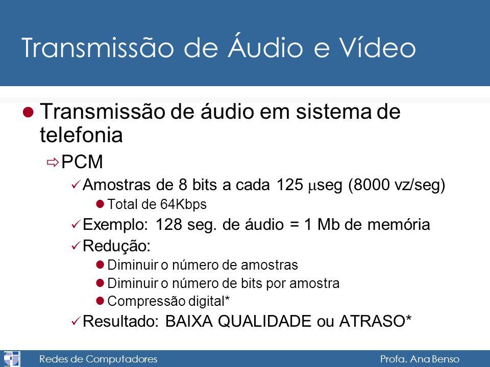 Transmissão de Áudio e Vídeo