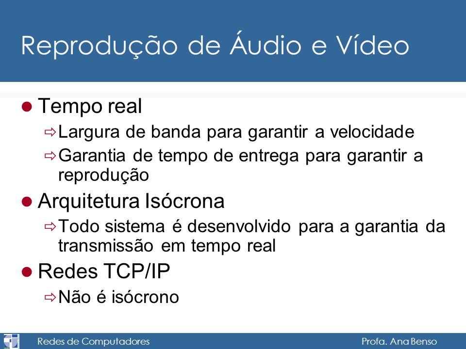 Reprodução de Áudio e Vídeo
