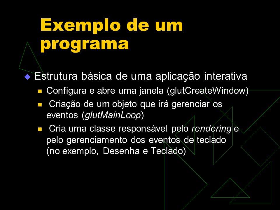 Exemplo de um programa Estrutura básica de uma aplicação interativa