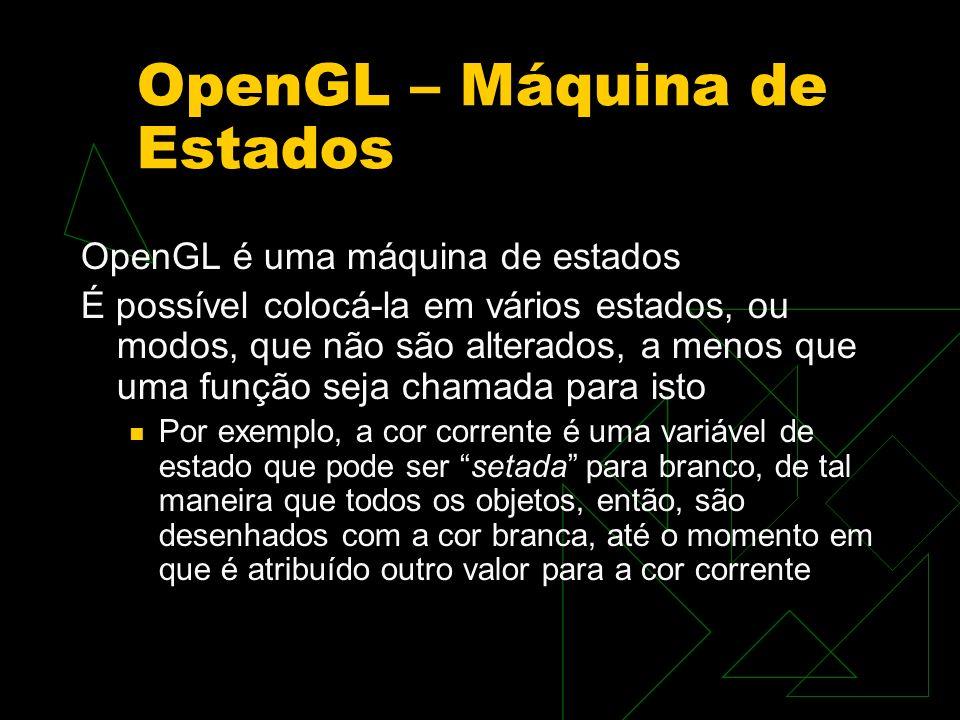 OpenGL – Máquina de Estados