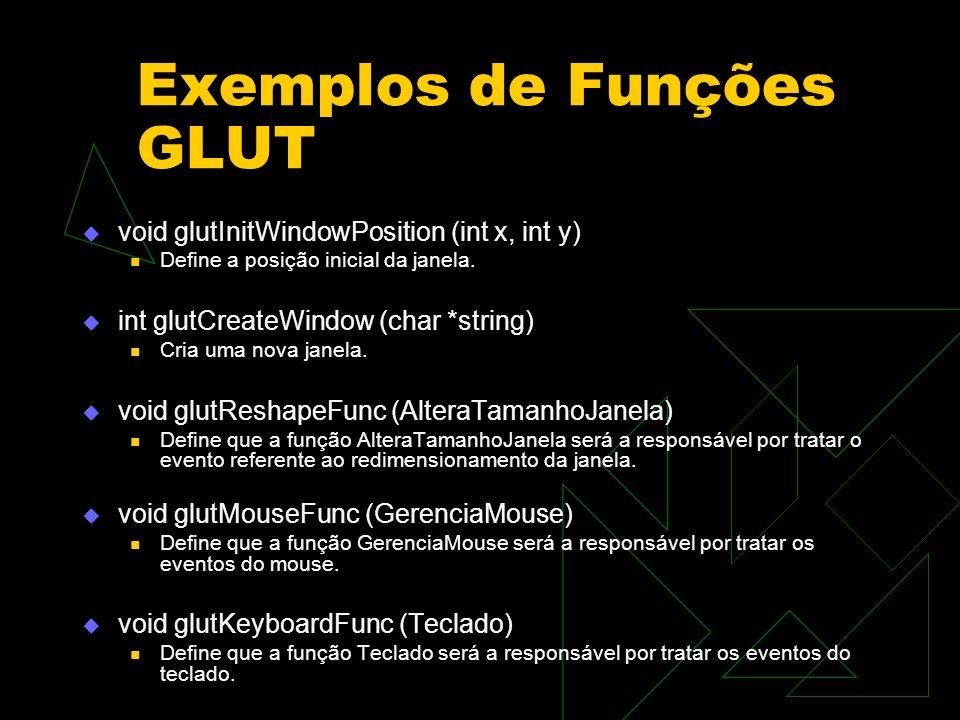 Exemplos de Funções GLUT