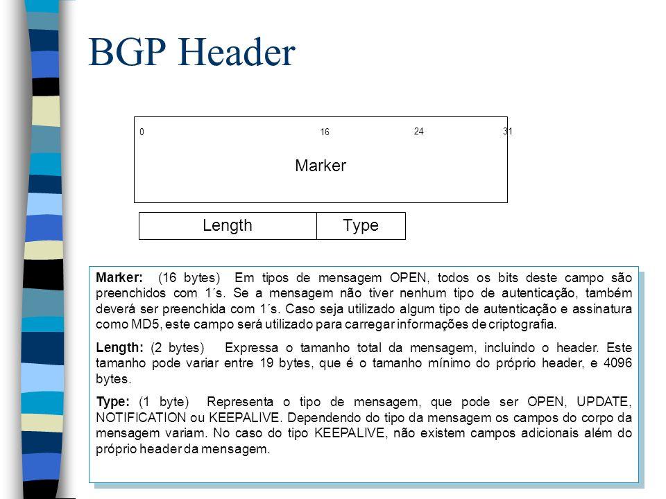 BGP Header Marker Length Type
