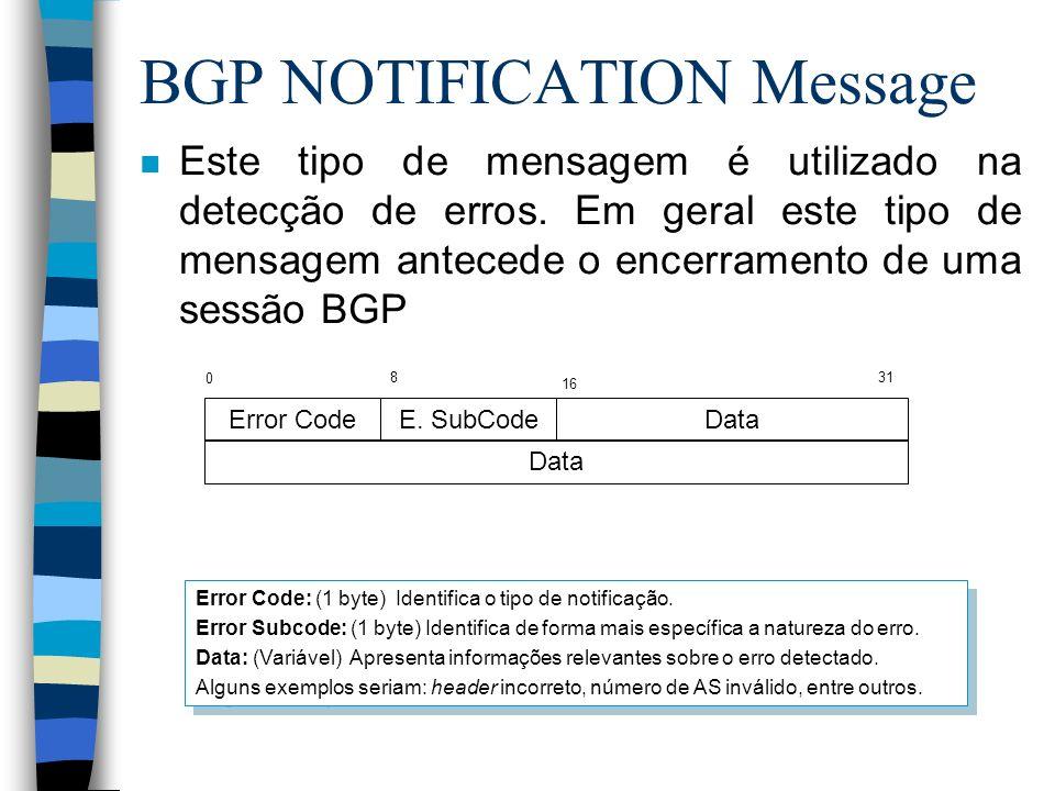 BGP NOTIFICATION Message