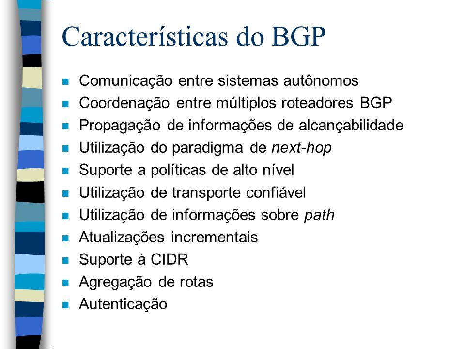 Características do BGP