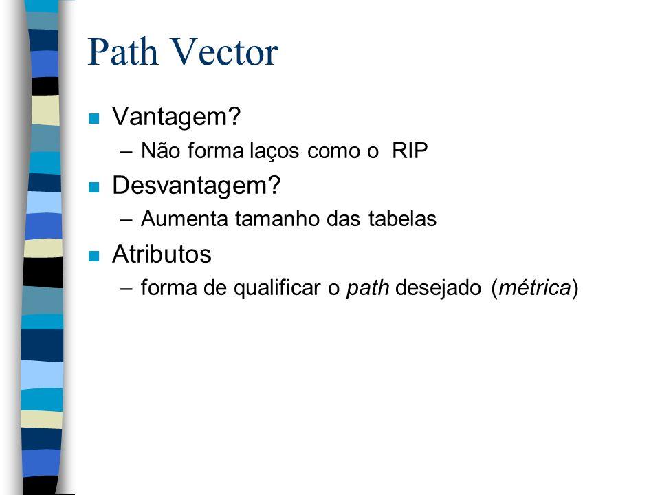 Path Vector Vantagem Desvantagem Atributos