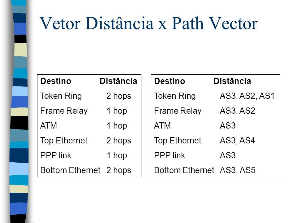 Vetor Distância x Path Vector