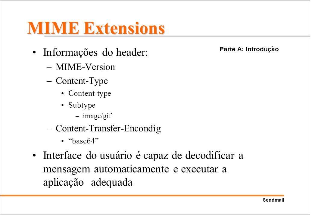 MIME Extensions Informações do header: