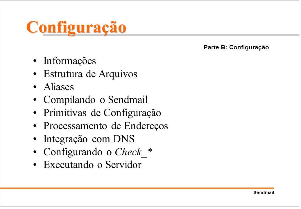 Configuração Informações Estrutura de Arquivos Aliases