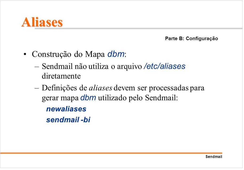 Aliases Construção do Mapa dbm: