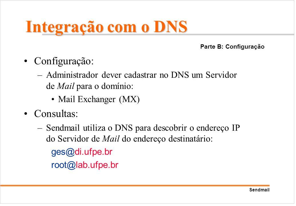 Integração com o DNS Configuração: Consultas: