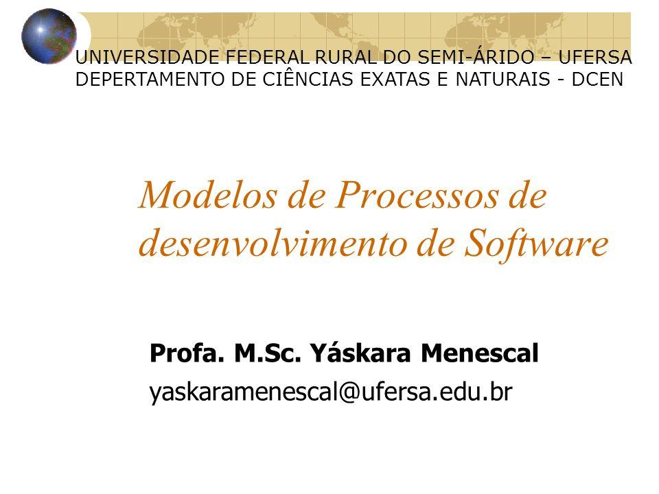 Modelos de Processos de desenvolvimento de Software