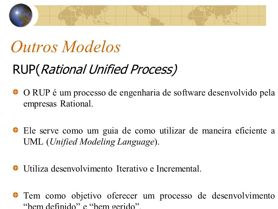 Outros Modelos RUP(Rational Unified Process)