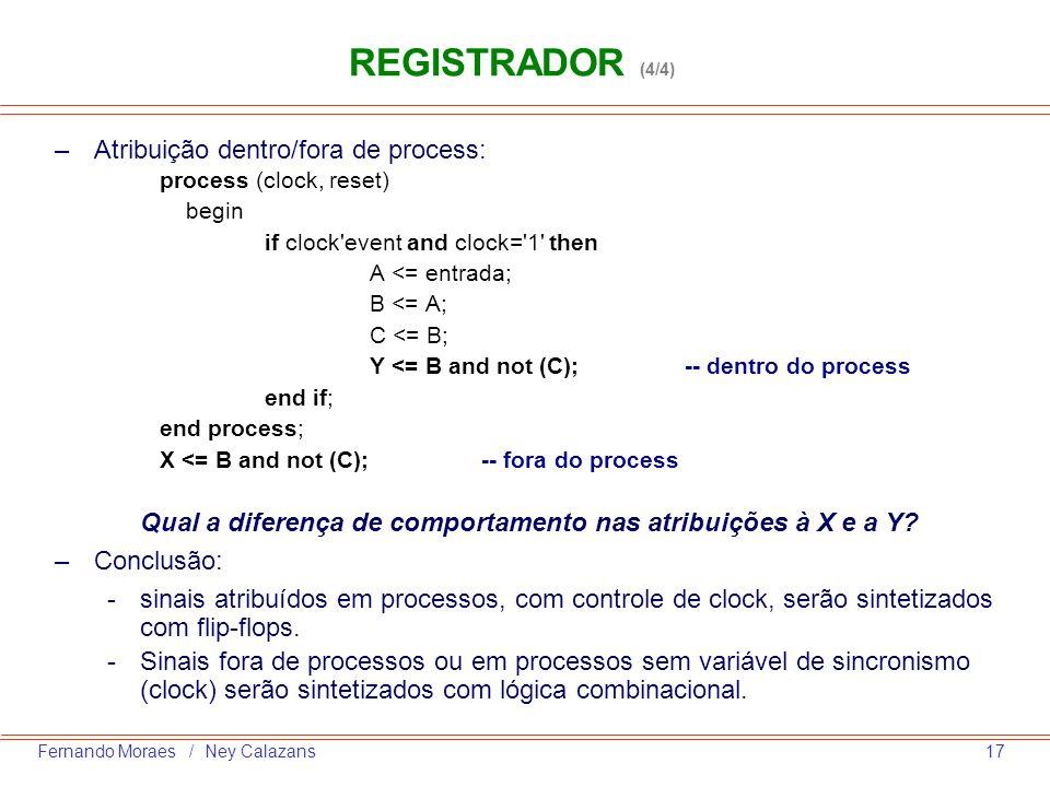 Qual a diferença de comportamento nas atribuições à X e a Y
