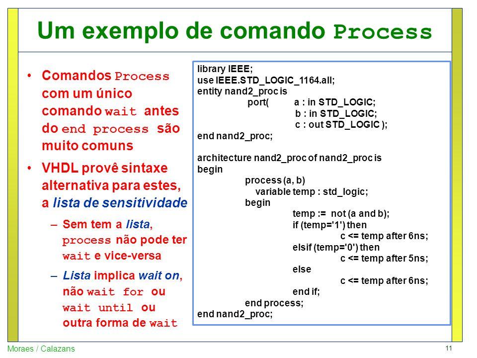 Um exemplo de comando Process