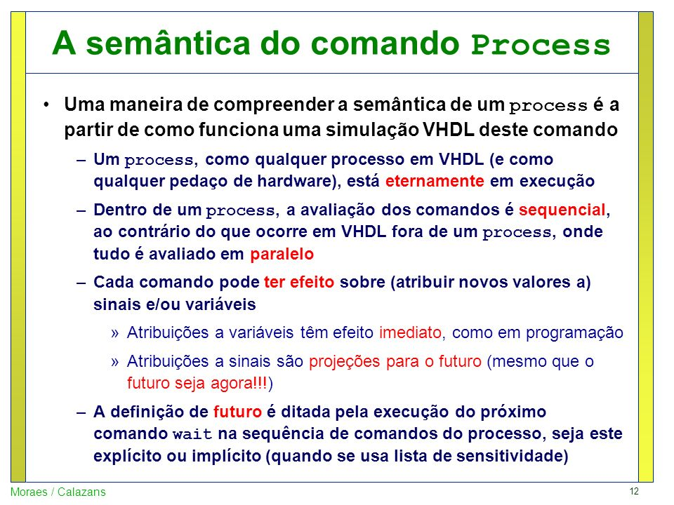 A semântica do comando Process