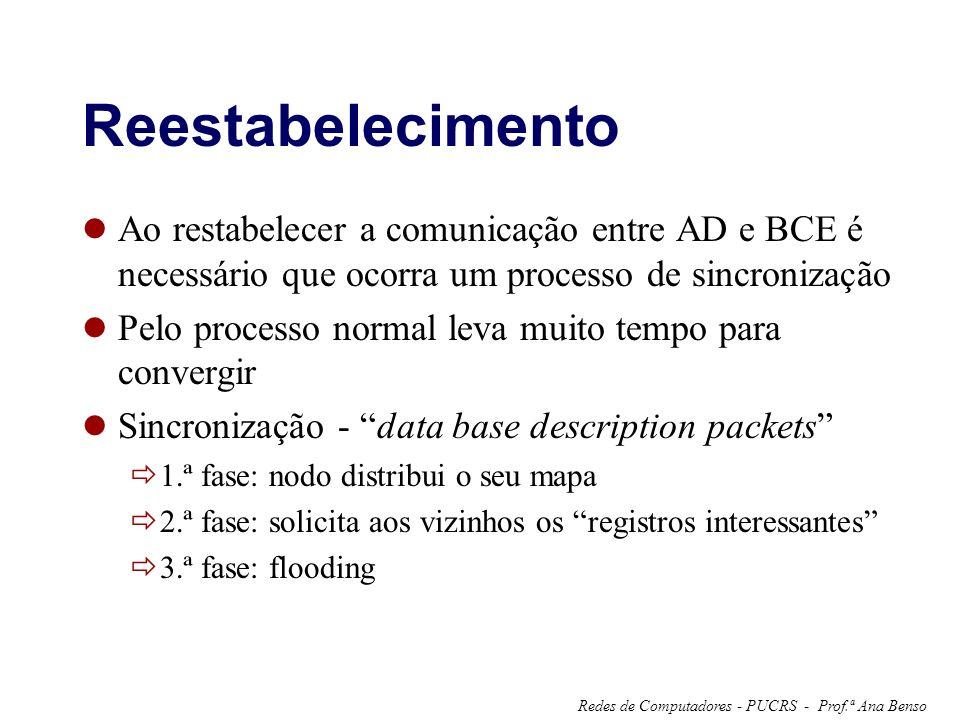 Reestabelecimento Ao restabelecer a comunicação entre AD e BCE é necessário que ocorra um processo de sincronização.