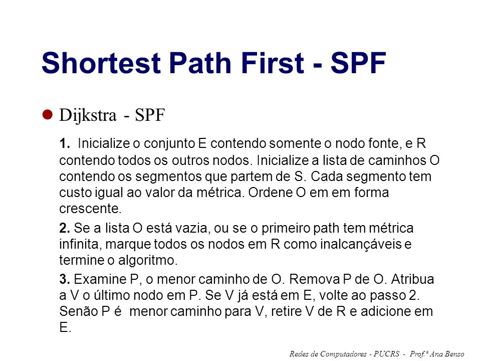 Shortest Path First - SPF