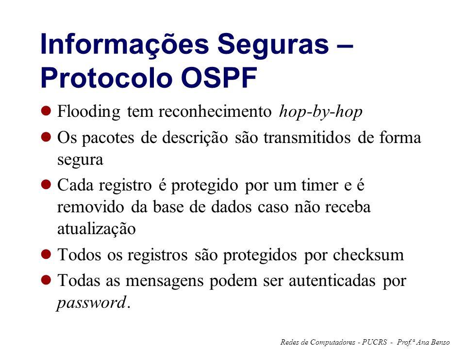 Informações Seguras – Protocolo OSPF