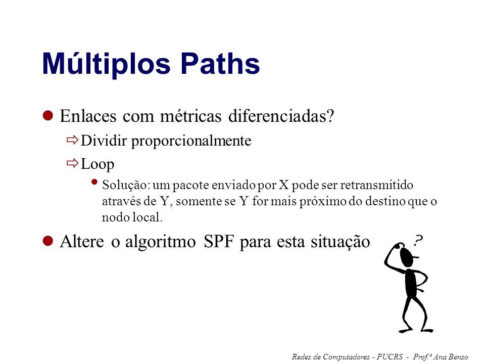 Múltiplos Paths Enlaces com métricas diferenciadas