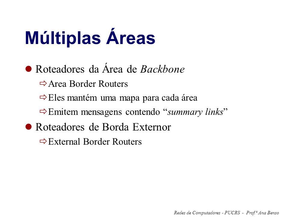 Múltiplas Áreas Roteadores da Área de Backbone