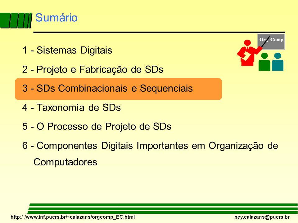 Sumário 1 - Sistemas Digitais 2 - Projeto e Fabricação de SDs